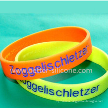 Debossed Printed Color Filled Rubber Band