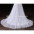 Western Marriage Wedding Party Gown floor Length white color bodycorn traditional bridesmaid dress with small tail