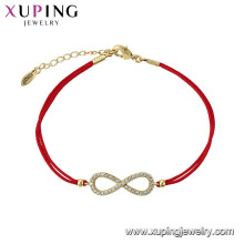 75584 xuping dernier bracelet élégant élégant de conception simple pour les filles en Chine en gros