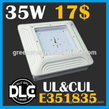 CUL DLC led gas station canopy lights white housing black housing canopy lights 35w ul listed 3500lm gas station led canopy