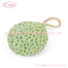 Esponja de baño de cuerpo suave libre latex con cuerda