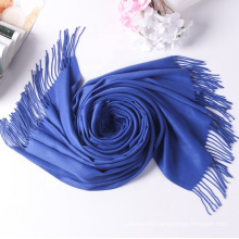 cashmere feel scarf women ladies soft acrylic winter woven tassel Best selling  hijab  women scarf