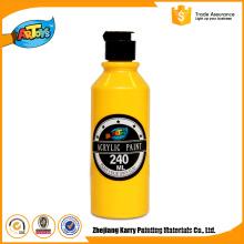 Pintura acrílica profissional amarela da cor da fonte da porcelana da garrafa da pintura acrílica 240ML
