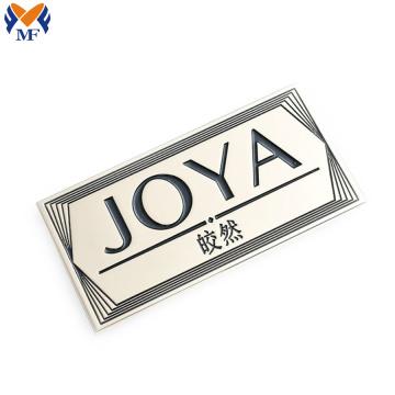 Logotipo de marca de metal personalizado para boné