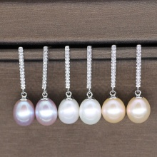 Fashion Hanging Eardrop Freshwater Pearl Earrings Designs
