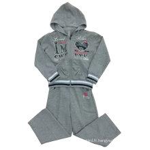 Costumes de sport français Terry Girl Wear dans les vêtements pour enfants Swg-113