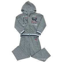 Terry esporte menina francesa ternos desgaste em roupas infantis swg-113