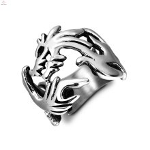 Aço inoxidável Vintage chinês Loong declaração Dragon Rings