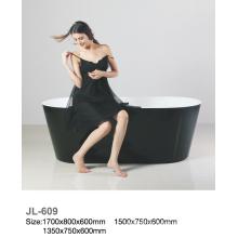 Schwarze ovale Freistehende Badewanne