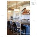 Salon salle à manger Tissu rond dos chaise de bar français