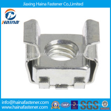 Carbon steel square cage nut with color zinc plated