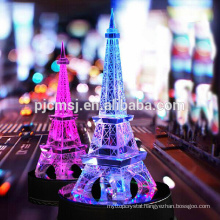 Wholesale Decorative Crystal Eiffel Tower for Romantic Gifts COM025