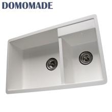 Fatory fornecimento de alta qualidade barato europa bacia de acrílico composto lavabo restaurante pia da cozinha