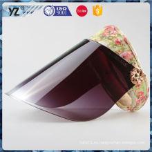 El sombrero corriente del visera del sol del diseño de la venta directa de la fábrica rápidamente envía