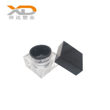 Black matte square bottle cosmetic customized plastic acrylic cream jar for skin care