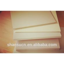 panneau de mousse de celuka de pvc de couleur blanche de 3mm / panneau de mousse de PVC de haute qualité