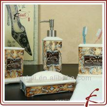 2015 New Design Wholesale Ceramic Bathroom Accessories Set
