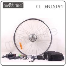 Kit de conversão de bicicleta elétrica MOTORLIFE / OEM 250W com bateria de chumbo ácido