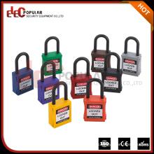 Elecpular China Products 38mm Shackle Глобальный небольшой пластиковый замок безопасности с обычным ключом