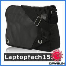 New design leisure black canvas laptop bag
