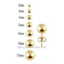 Серьги с золотым титановым покрытием