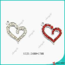 Zinklegierung Kristalle Broken Heart Charm (SPE)