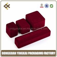 Luxury Red Jewelry Plastic Suit Velvet Box