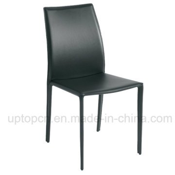 Stacking High Quality Green Leather Cafe Restaurant Chair (SP-LC228)