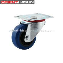 80mm Medium Duty caoutchouc élastique bleu roulette