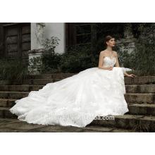 ZM16004 Exklusive Hochzeitskleider für fette Braut mit langem Zug 2016 späteste Art-Qualitäts-schwere wulstige Hochzeits-Kleider