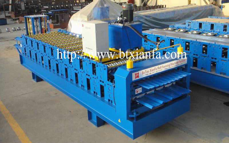 double layer roof sheet making machine