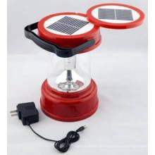 Solar LED Camping Laterne Lampe Licht Doppel Sonnenkollektoren