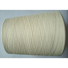 Algodón de seda blanqueado hilo blanco crudo