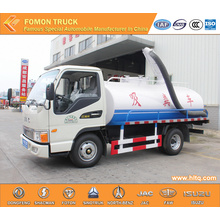 JAC euro4 4000L dung suction tank truck for sale