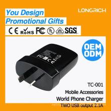 CE, ROHS Aprobado mini-itx dc / dc convertidor, ODM / OEM rápida entregar USB dual cargador 2.1a coche