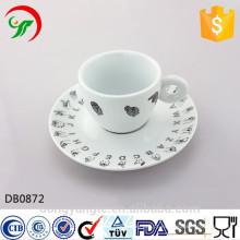jogo feito sob encomenda da porcelana do copo de café da fábrica, jogo cerâmico da xícara de café, grupo do copo de café