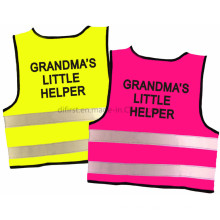 Reflective Safety Vest for Children with Lovely Print
