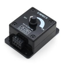 controlador de atenuador LED de color negro DC 12-24V 8A