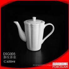 EuroHome fabrique théière en porcelaine blanche de nouveau produit