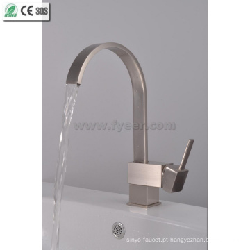 Brush Nickle Waterfall Kitchen Faucet (QH0721S)