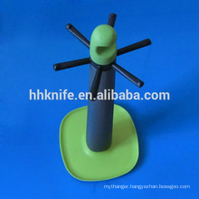 Plastic Kitchen Holder with 6 Hangers