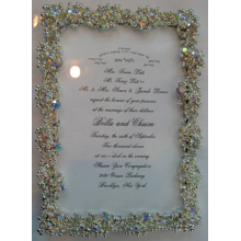 Crystal de luxe et de cadre de Photo de diamant pour le Trésor vers le haut de vos Photos de mariage