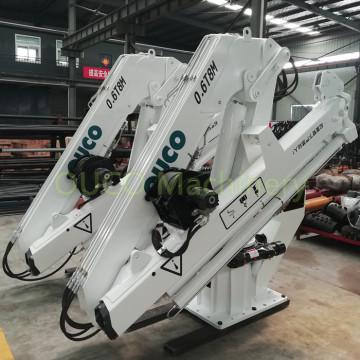 0.6T8M Knuckle and Telescopic Boom Palfinger Marine Crane