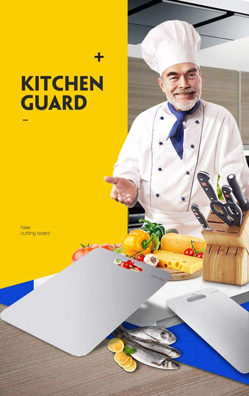 High -Grade Stainless Steel Cutting Board