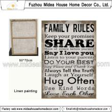 Modèles de peinture en tissu de règle familiale