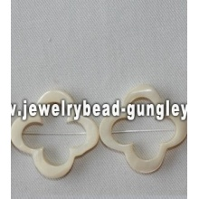4 petal flower shape freshwater shell beads