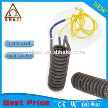 Elemento calefactor helicoidal de bobina