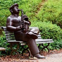 statue de joueur de saxophone musicien de haute qualité