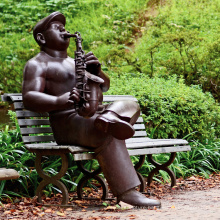 high quality musician saxophone player statue