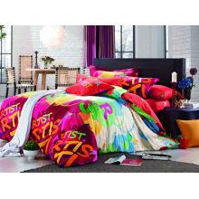 2014 новый роскошный мягкий цветочный нестандартный дизайн 100% хлопок реактивной печатной фантазии постельное покрытие